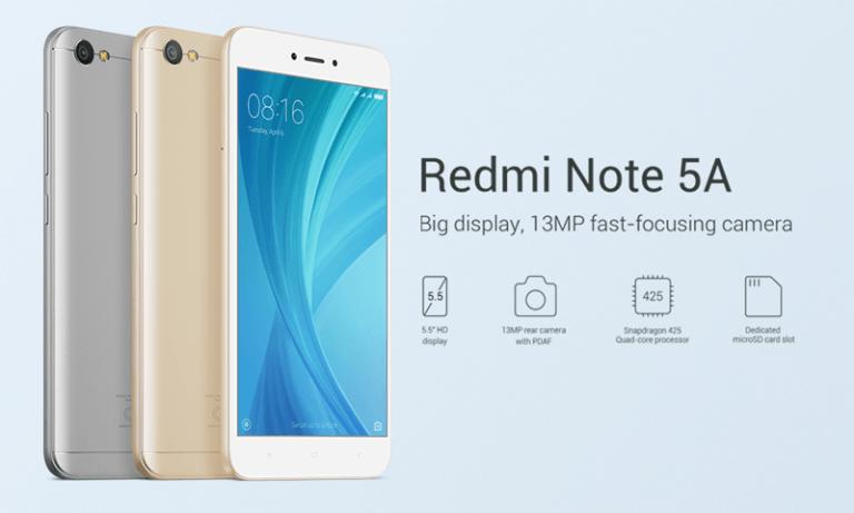 Redmi Note 5A Solusi Smartphone Murah Dengan Layar Lebar