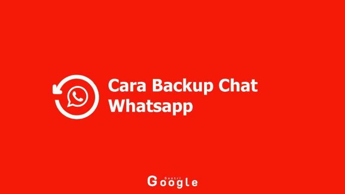 Kenangan Tak Akan Hilang, Begini Cara Backup Chat Whatsapp