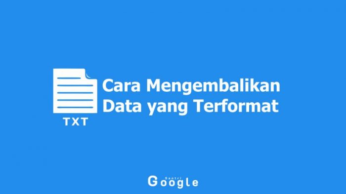 4 Cara Mengembalikan Data yang Terformat, di PC hingga di HP