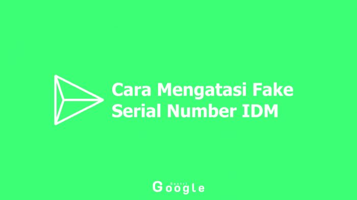 Cara Mengatasi Fake Serial Number IDM